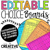 Choice Boards are perfect for station and center time. These choice boards build student engagement, differentiated instruction and have minimal teacher prep.