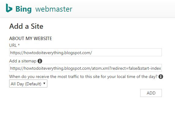 how to add sitemap to bing webmaster tools, add a sitemap to bing and yahoo