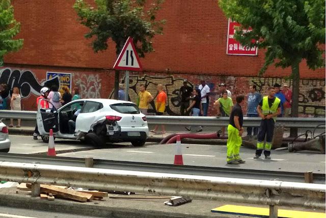 Imagen de uno de los dos vehículos implicados en el accidente