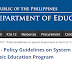 Policy Guidelines on System Assessment in the K to 12 Basic Education Program