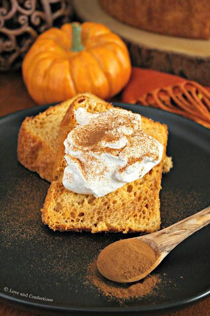 Semi-Homemade Pumpkin Angel Food Cake from LoveandConfections.com #PumpkinWeek