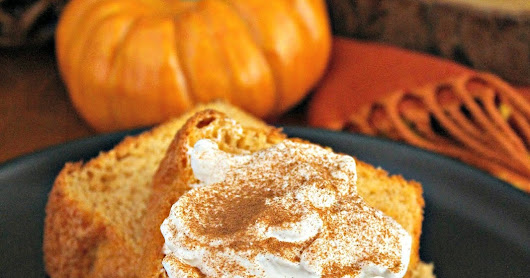 Semi-Homemade Pumpkin Angel Food Cake #PumpkinWeek