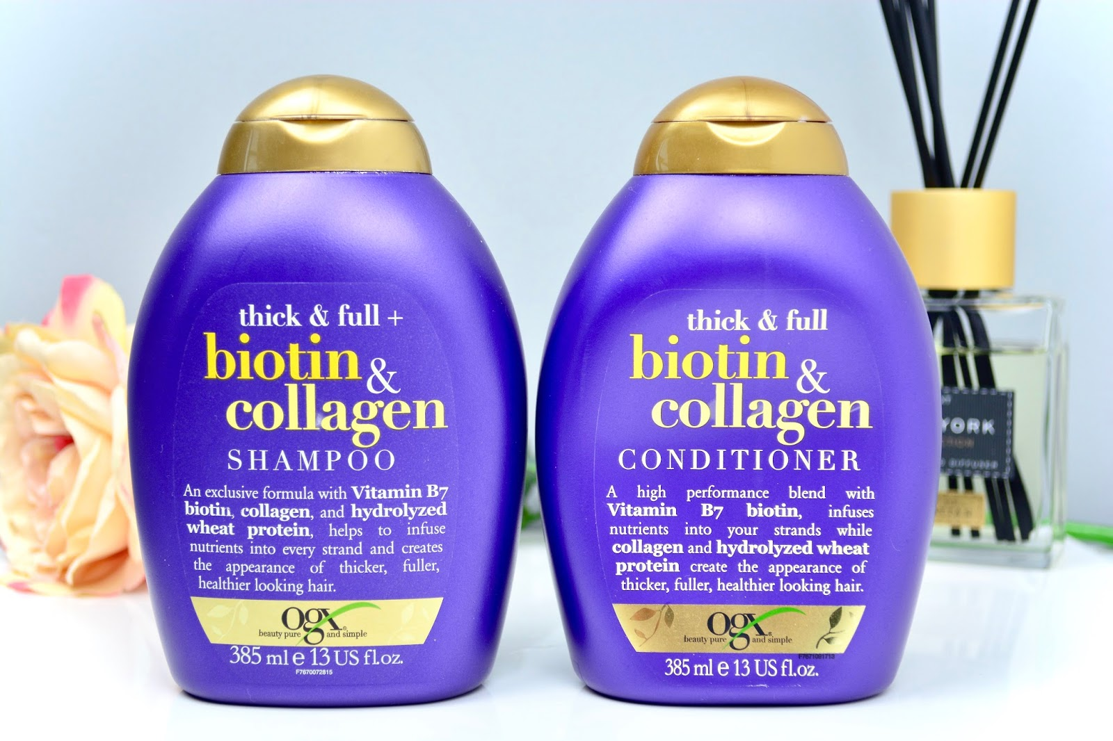 Haircare, Hair, OGX, Thin Hair, Shampoo, Conditioner, OGX Biotin and Collagen Range, Beauty, Beauty Blogger,