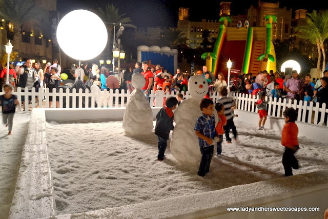 snow ball fight at Souk Festive Market