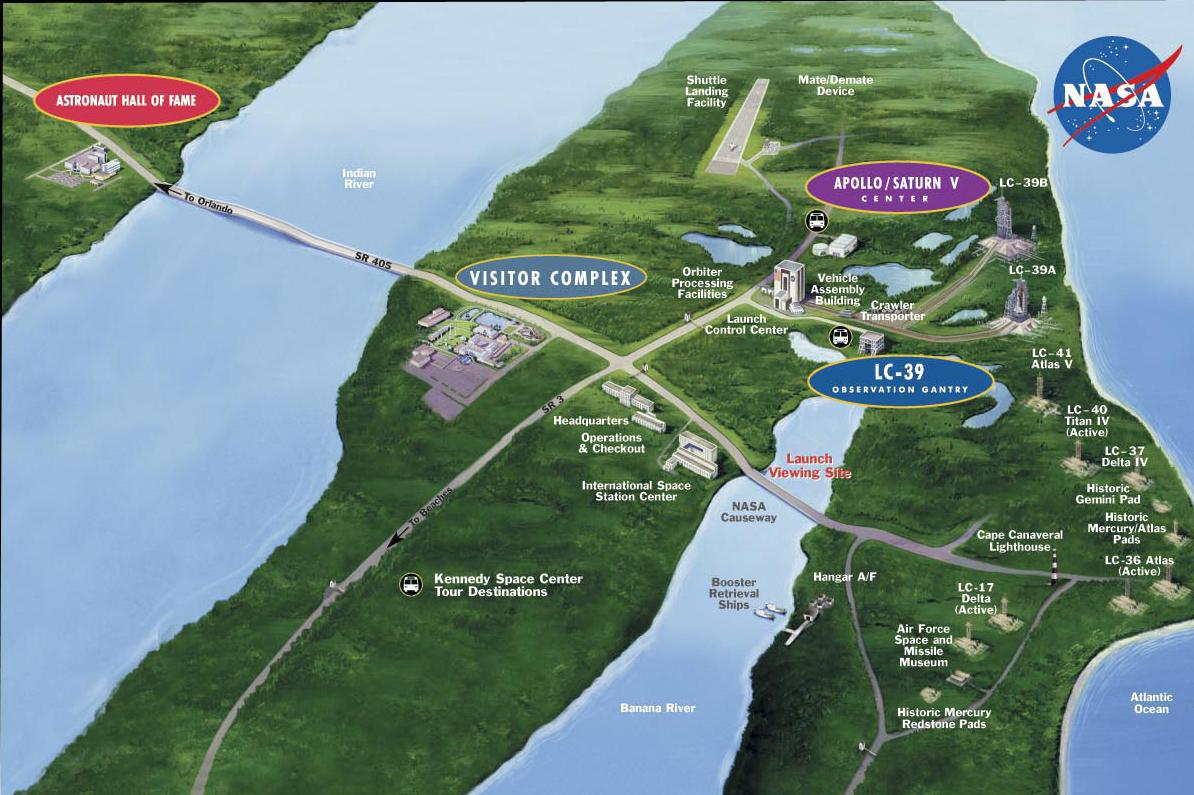 map of nasa space center in california - photo #29