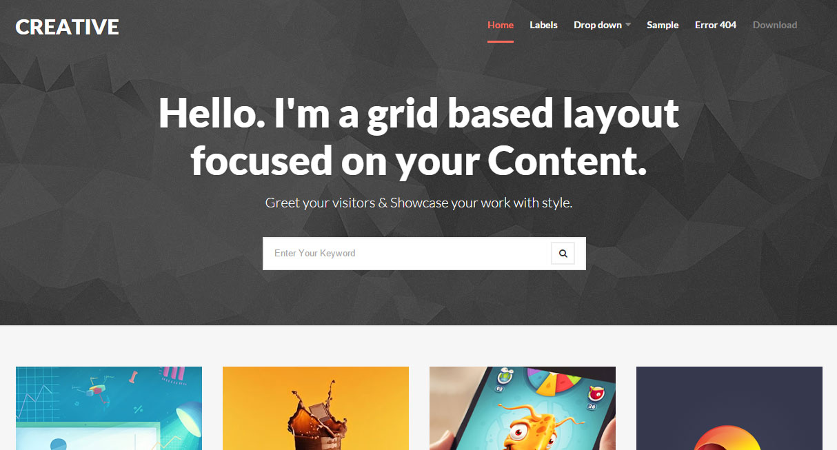 Creative – Clean & Responsive Blogger Template