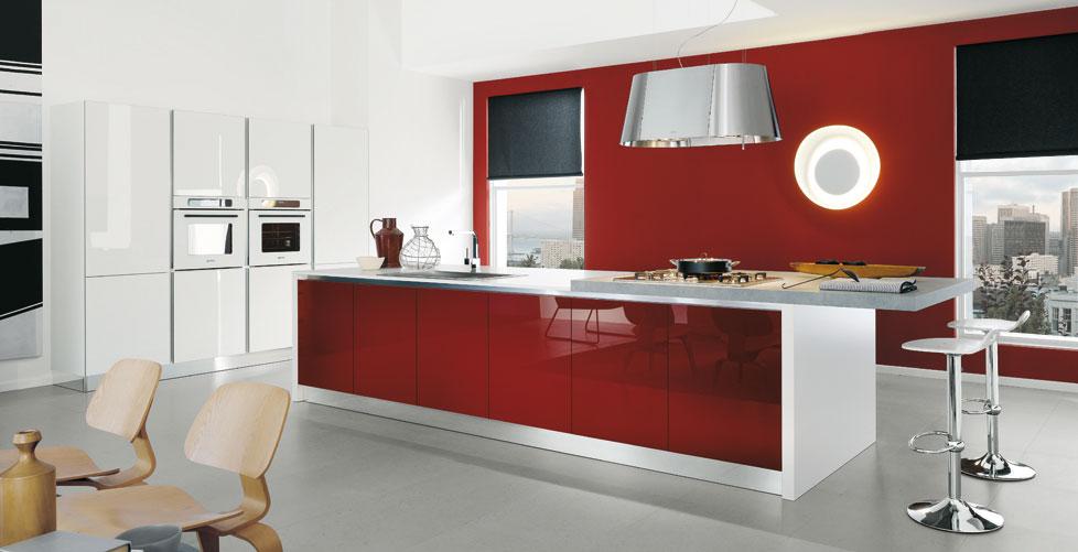 White Red Kitchen