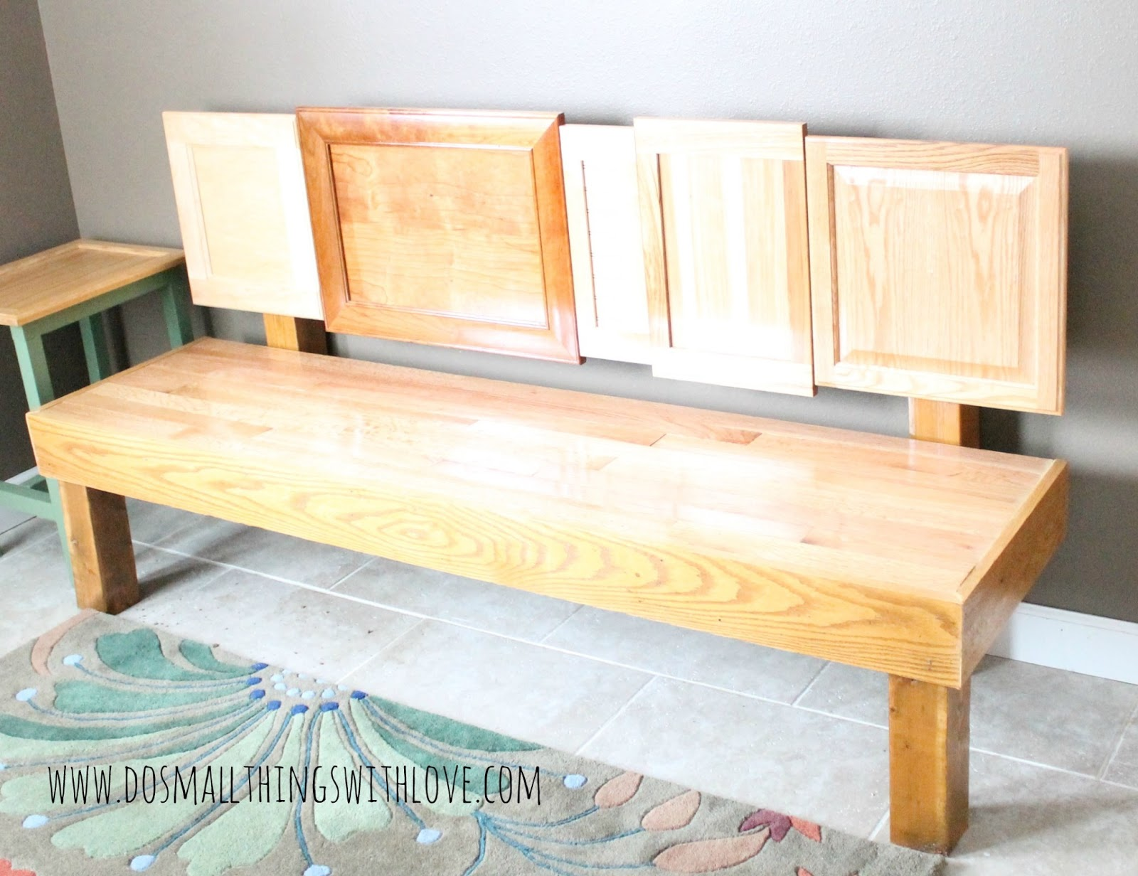 DIY Cabinet Door Bench  Do Small Things with Great Love