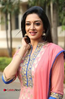 Actress Vimala Raman Stills in Beautiful Pink Salwar Kameez at (ONV) Om Namo Venkatesaya Press Meet  0112.JPG