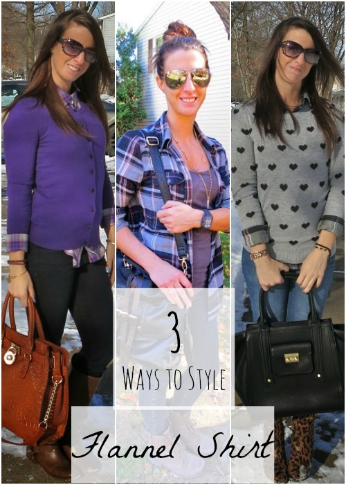 cc5290ad Flannel is so fun to style in Fall. It's like it matches the weather and  the colors of the leaves as they change! Here are 3 ways to style a Flannel  Shirt.