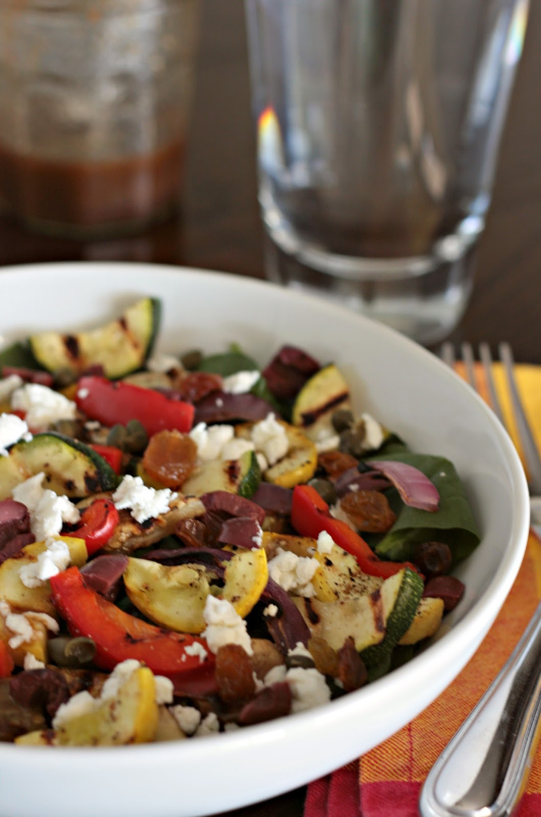 grilled caponata salad
