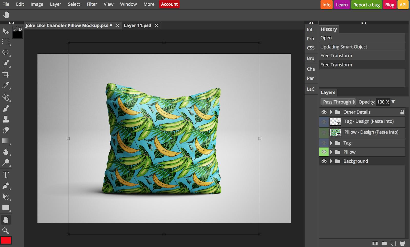 Create a Smart Object Mockup Without Photoshop - Shikita Makes - The