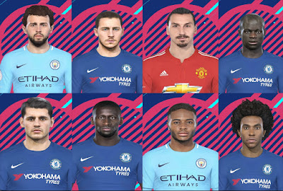 PES 2018 Facepack Premier League by Denis