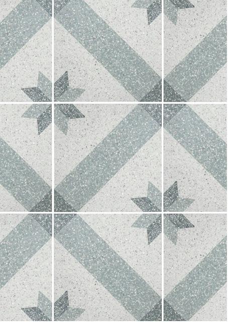 azulejos historicos, color gris y blanco con motivos geometricos