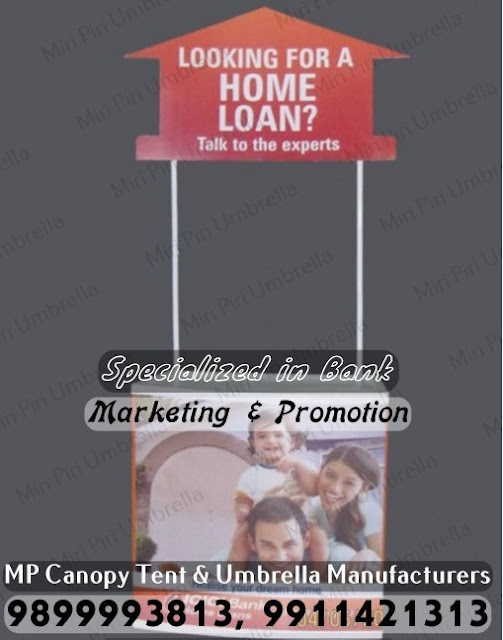 kiosk for bank advertising, tents for banks, Promotional Canopy Tent for Bank Promotion, Golf Umbrella for Bank Promotion, Corporate Umbrella for Bank Promotion, Monsoon Canopy Tent for Bank Promotion,