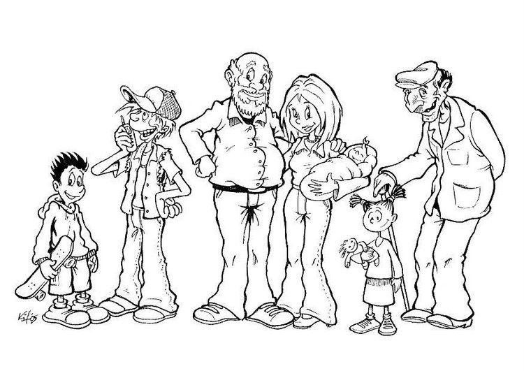 Imagens Para Pintar Familias Cantinho Do Educador Infantil