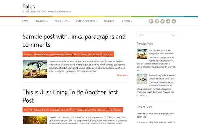 Template Patus Blogger Responsive