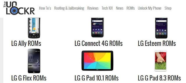 أفضل 3 مواقع لتحميل رومات رسمية لهواتف LG ألجي | LG FIRMWARE ROMS