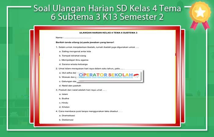 Soal Ulangan Harian SD Kelas 4