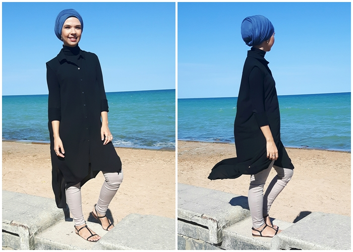 summer, ootd, beach, coconut, palm, modest fashion, muslim fashion, effortless chic