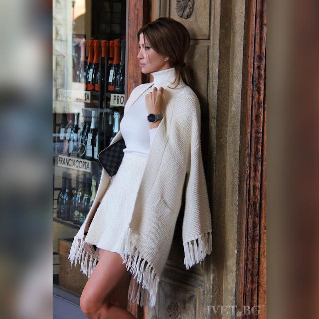 Μακρυμάνικο γυναικείο πανωφόρι MERILIN WHITE