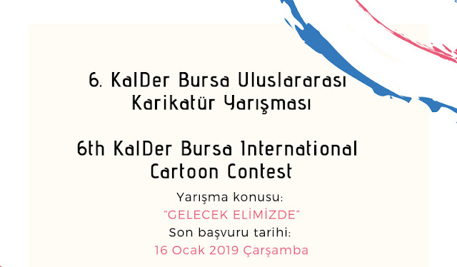 6th KalDer Bursa International Cartoon Contest, Turkey