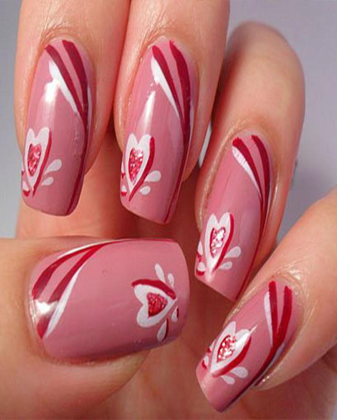 Diseño De Uñas Para El Dia De San Valentin Originales Elsexoso