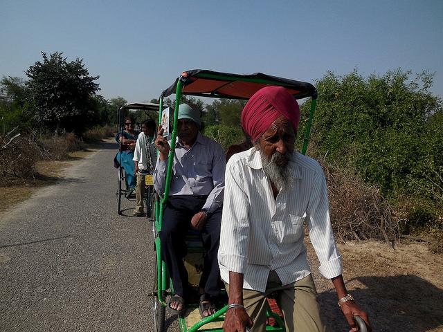 Rickshaws inside sanctuary