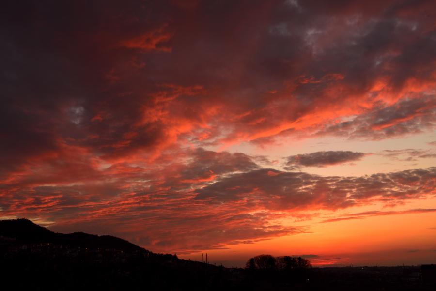 大乗寺丘陵公園の夕焼けの写真