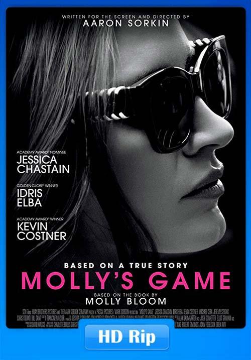 Mollys Game 2017 WEB-DL 720p | 350MB 480p | 150MB HEVC Poster