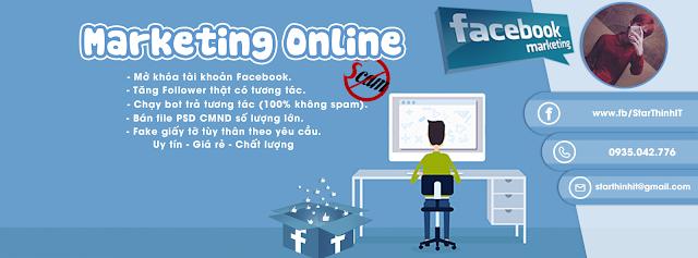 [PSD Ảnh Bìa] Ảnh Bìa Marketing Online Facebook đẹp