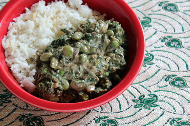 Vegan Richa Chard and Peas