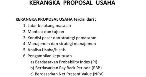 Contoh Proposal Usaha Yang Baik Dan Benar Teori Pendidikan