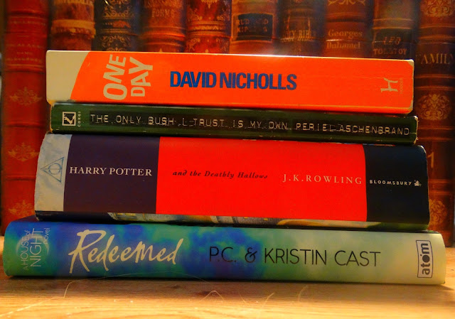 Books, Modern, Harry Potter, House of Night, Redeemed, The Deathly Hallows, Periel Aschenbrand, Bush, One Day, David Nicholls