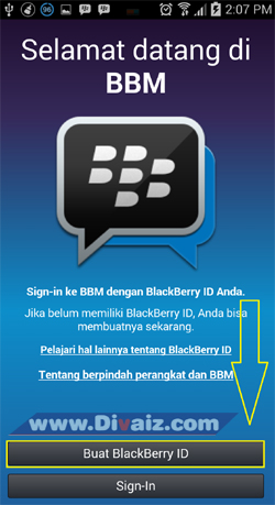 Buat BlackBerry ID - www.divaizz.com