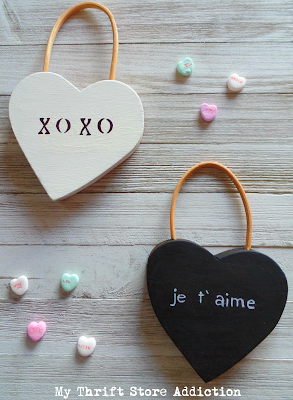 DIY farmhouse style conversation hearts