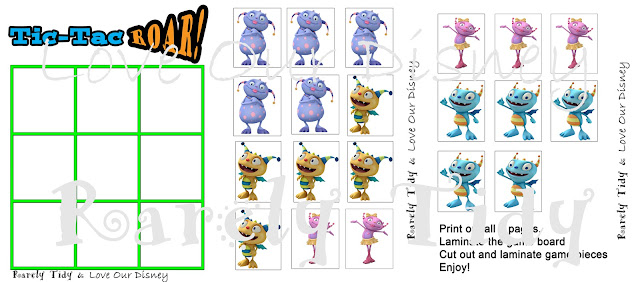Free Henry Hugglemonster Tic Tac Toe printables from LoveOurDisney.com How cute are these? Perfect for a toddler activity.