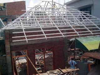 Pemasangan rangka baja ringan galvalum malang di masjid