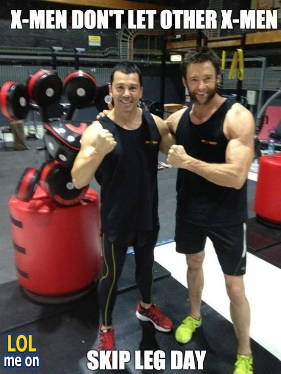 """funny celebrities picture shows Hugh Jackman from """"LOL me on"""""""