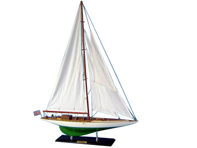 Shamrock Wooden Sailboat Model