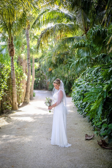 Bride before the wedding on Captiva Island