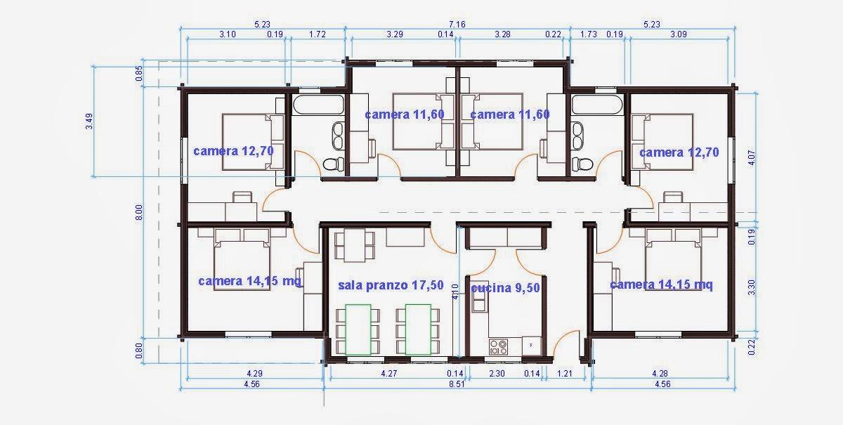 Progetti di case in legno b b 153 mq for Progetti di interni case