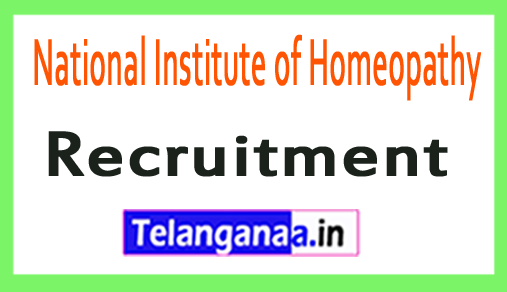 National Institute of Homeopathy NIH Recruitment