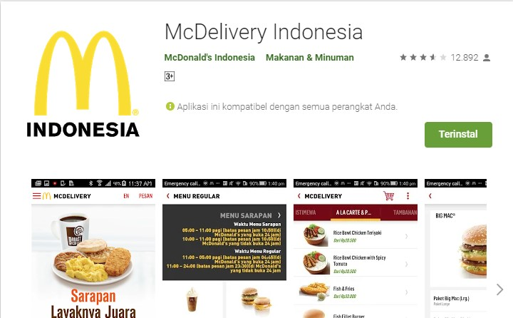 Cara Order Makanan Mc Donald S Dengan Aplikasi Mc Delivery Indonesia