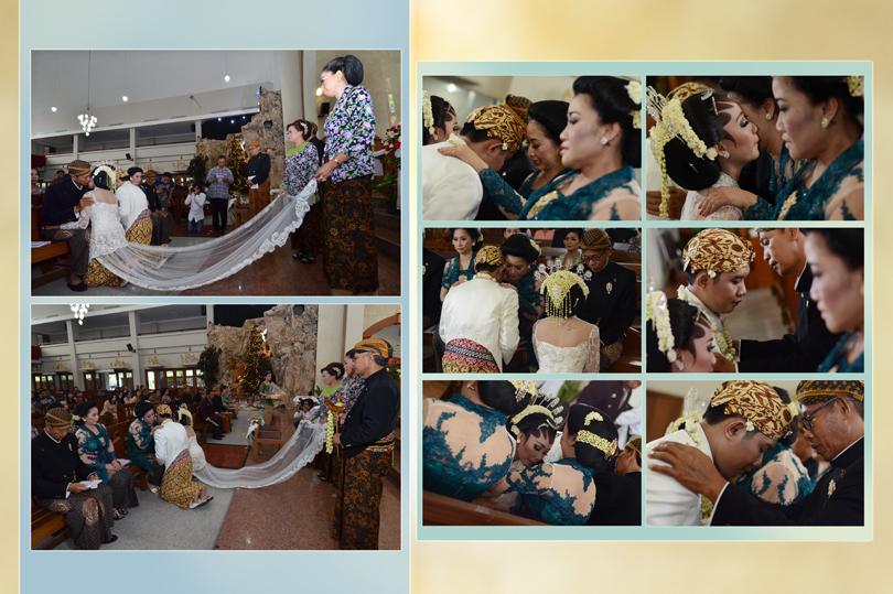 foto pemberkatan pernikahan
