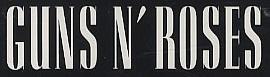 Logo con el texto: Guns N' Roses