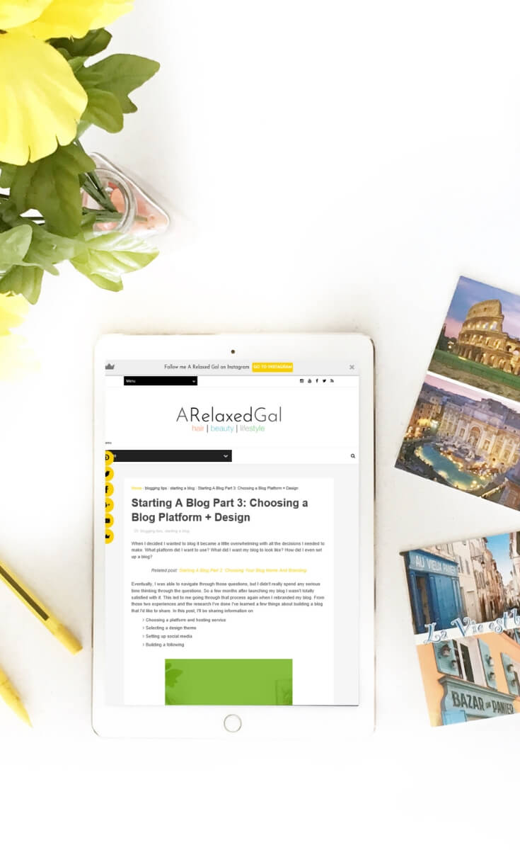 Choosing a platform for your new blog | A Relaxed Gal