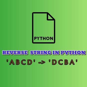 Python Program to Reverse a