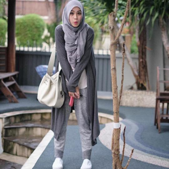 Hijab Outfit Of The Day Hijab Outfit Of The Day Ala Zaskia Adya Mecca