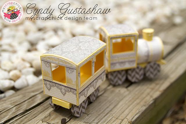 3d paper train